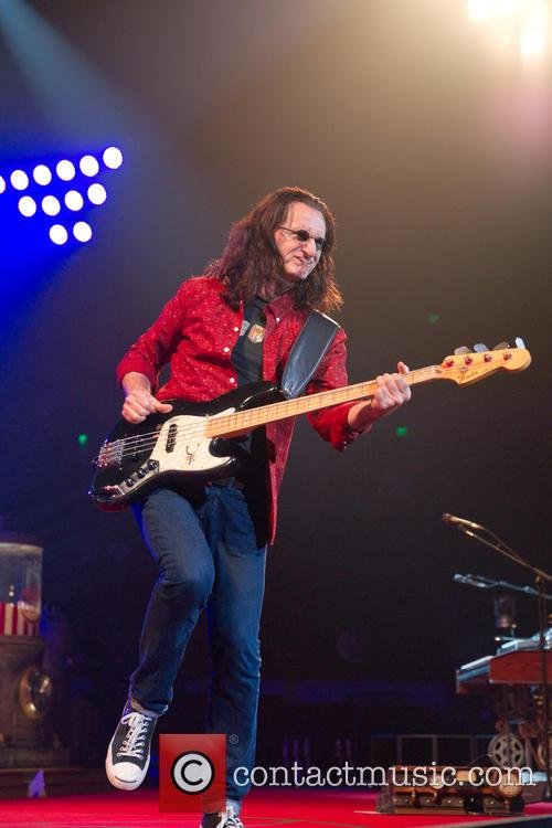 Rush performing in Austin