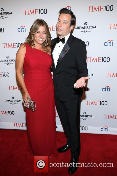 Jimmy Fallon and Nancy Juvoven at 2013 TIME 100 Gala