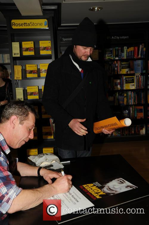 Andy Kershaw attends a book signing