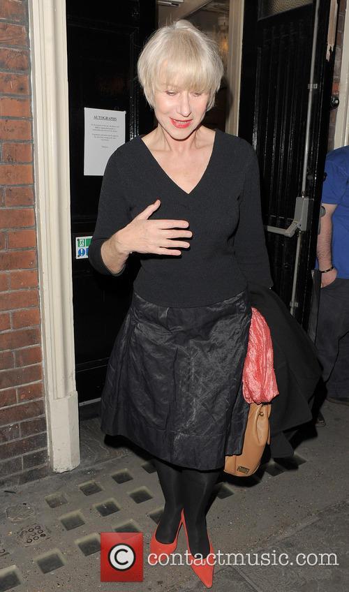 Dame Helen Mirren leaving the Gielgud Theatre