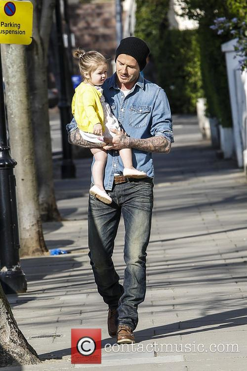 David Beckham and Harper Beckham 2