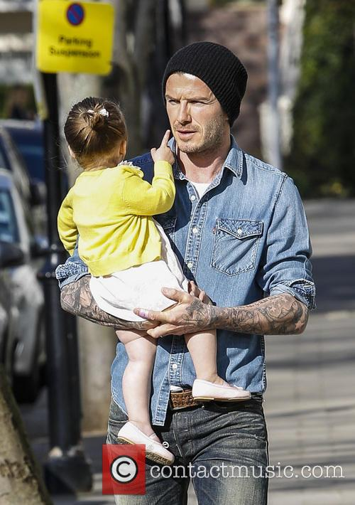 David Beckham and Harper Beckham 3