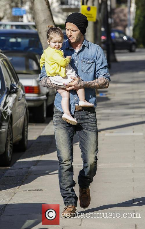 David Beckham and Harper Beckham 6