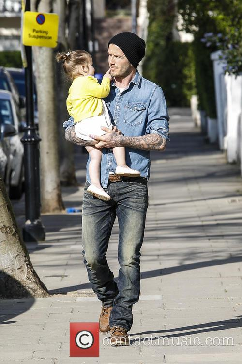 David Beckham and Harper Beckham 7