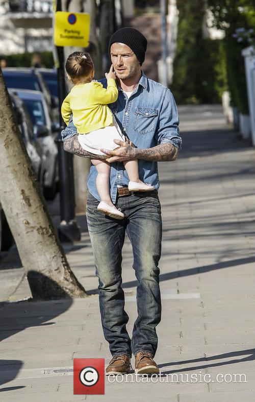 David Beckham and Harper Beckham 9