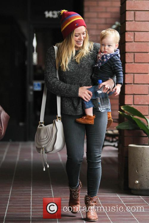 Hilary Duff and son Luca out and about