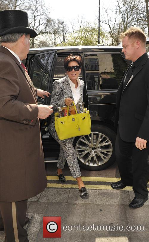 Kris Jenner arriving at a hotel