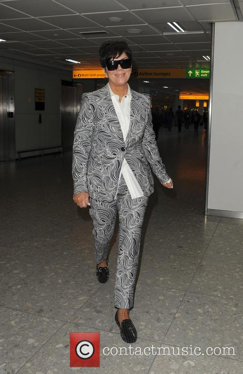 The Kardashian's arrive at Heathrow Airport