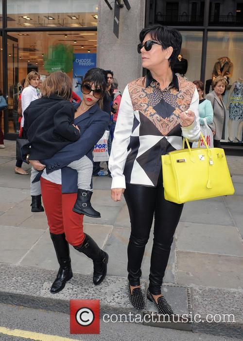 Kourtney Kardashian and mum Kris Jenner take Mason...