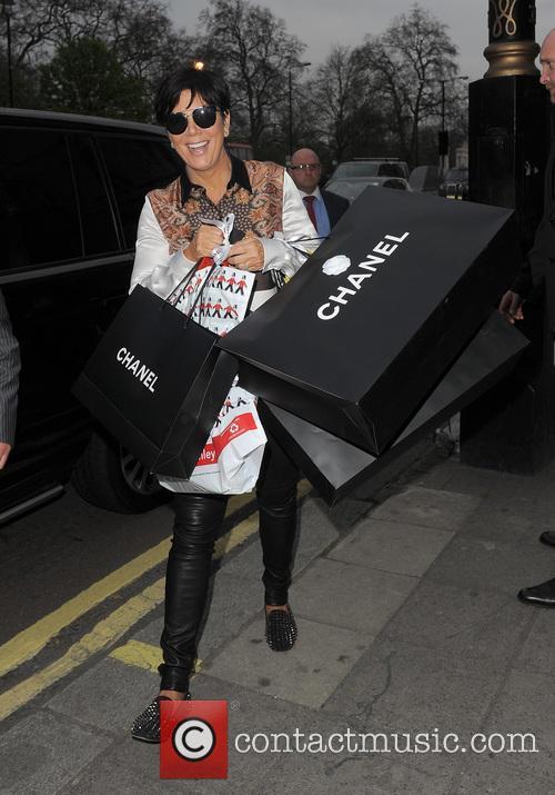 Kourtney Kardashian and Kris Jenner arrive back at...
