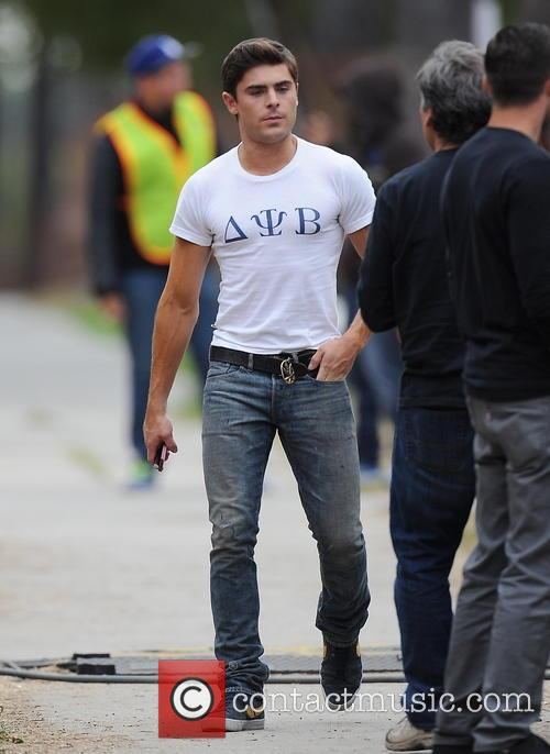 Zac Efron on set of 'The Townies'