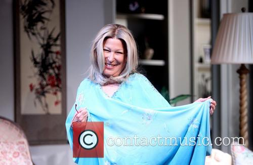 Opening night curtain call for Bette Midler as Sue Mengers in the Broadway play ''I'll Eat You Last''