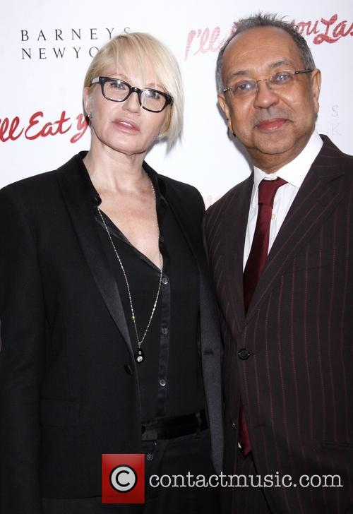 Ellen Barkin, George C. Wolfe at the Broadway opening night of I'LL EAT YOU LAST at the Booth Theatre-Arrivals. New York City, USA-24.04.13
