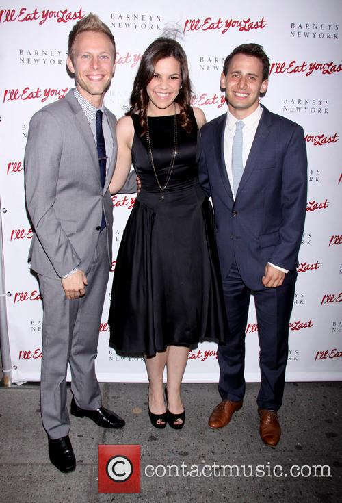 Justin Paul, Lindsay Mendez and Benj Pasek 10