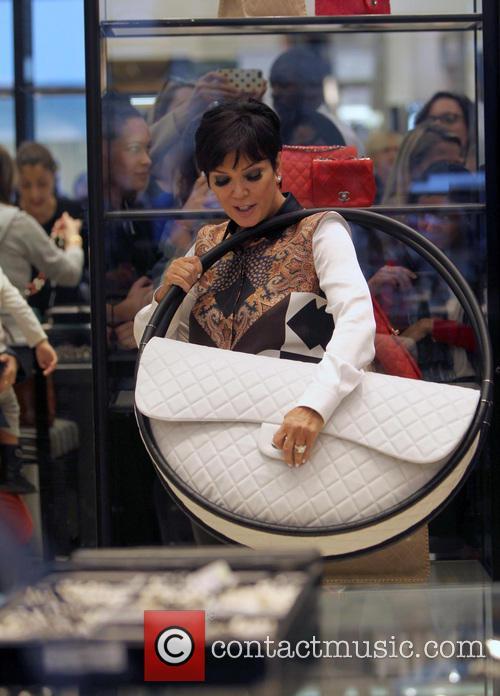 Kourtney Kardashian shopping at Selfridges with her mum Kris Jenner and son Mason Disick