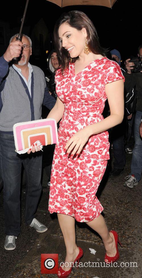 Kelly Brook leaving the ITV studios