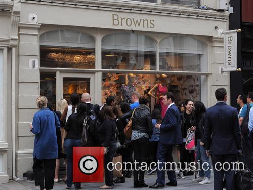 Kris Jenner and Kourtney Kardashian shopping in Browns...