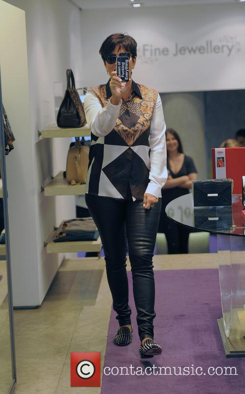 Kris Jenner and Kourtney Kardashian shopping in Browns Boutique