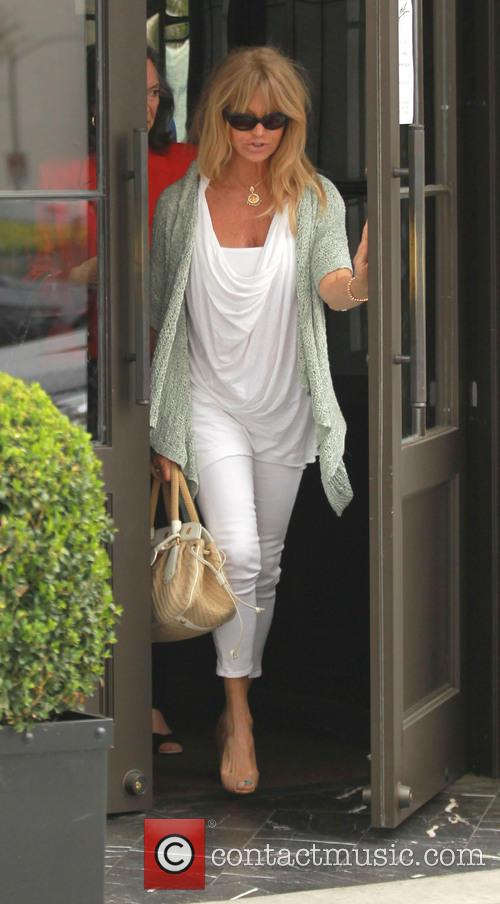 Goldie Hawn Leaves Lunch At Spagos