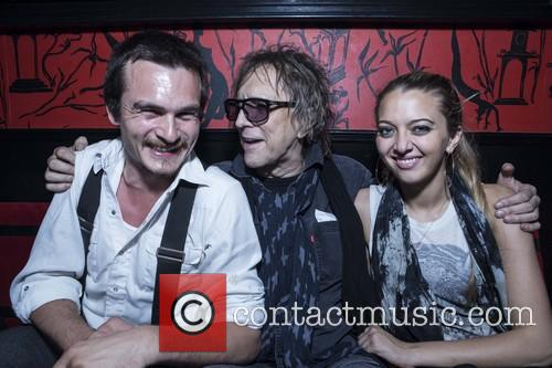 Rupert Friend, Mick Rock and Nathalie Rock 3