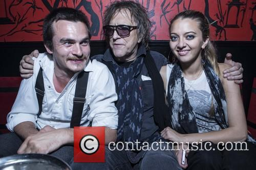 Rupert Friend, Mick Rock and Nathalie Rock 5