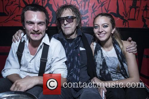 Rupert Friend, Mick Rock and Nathalie Rock 7
