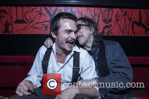 Rupert Friend and Mick Rock