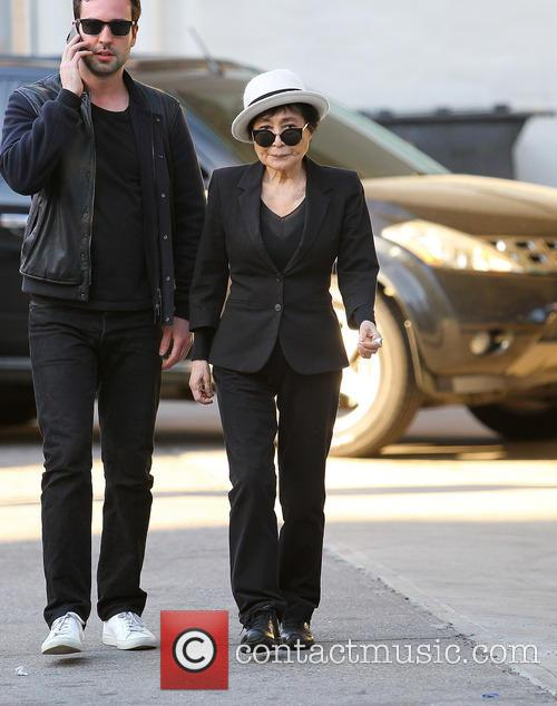 Yoko Ono seen out and about