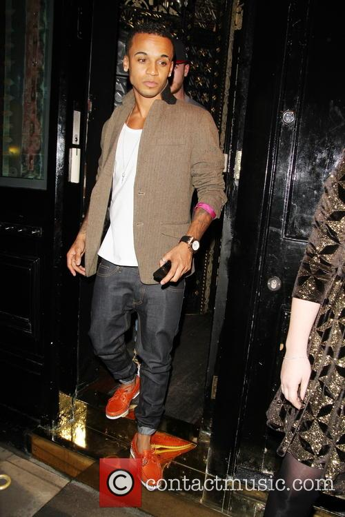 Aston Merrygold of JLS seen leaving Crazy Bear