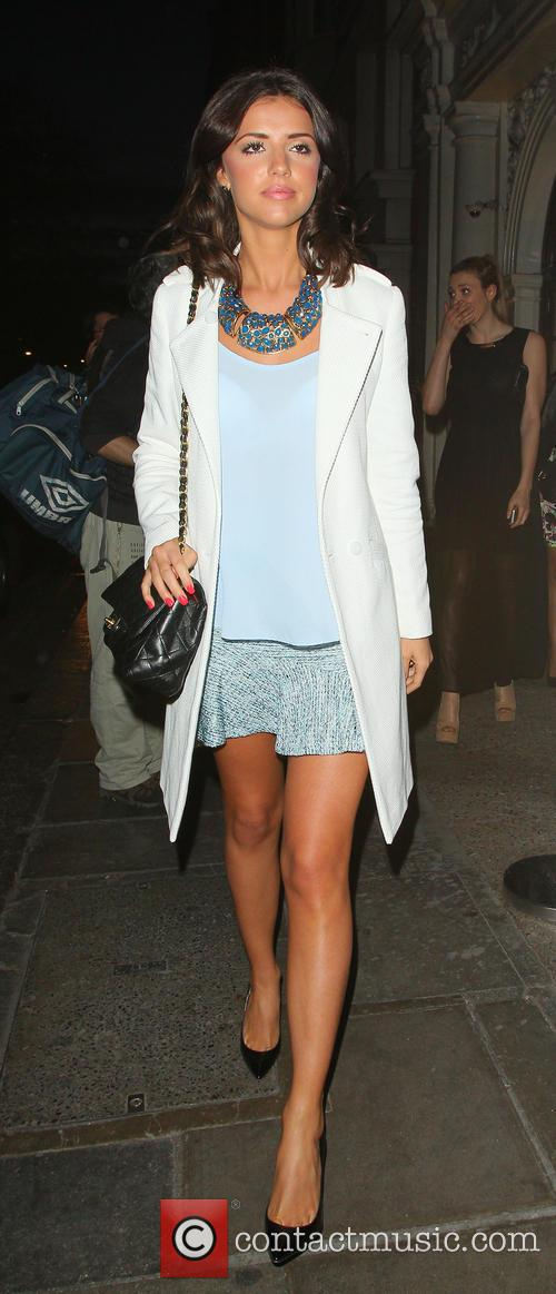 Lucy Mecklenburgh arriving at Nobu Berkley