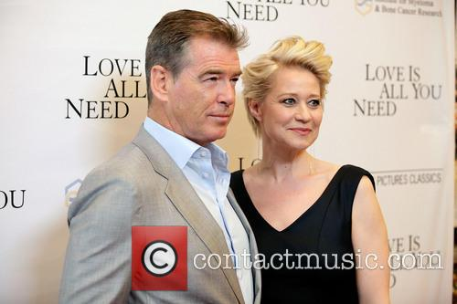 Pierce Brosnan and Trine Dyrholm 1
