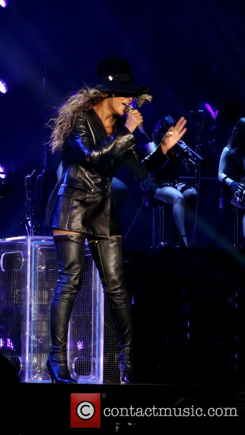 Beyonce performs live in concert at the LG Arena in Birmingham