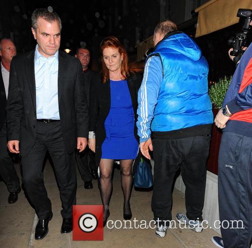 Sarah Ferguson leaving Loulou's club