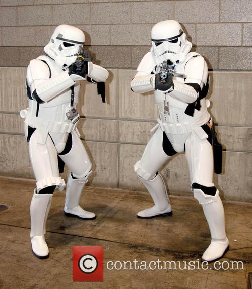 Fans dressed as Stormtroopers at Chicago Comic & Entertainment Expo 2013