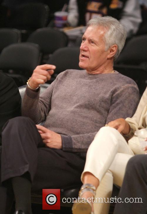 alex trebek celebrities watch the la lakers 3630968