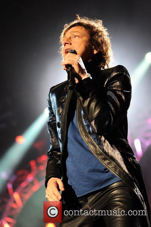 Italian singer Gianna Nannini performs on stage at the Mediolanum Forum