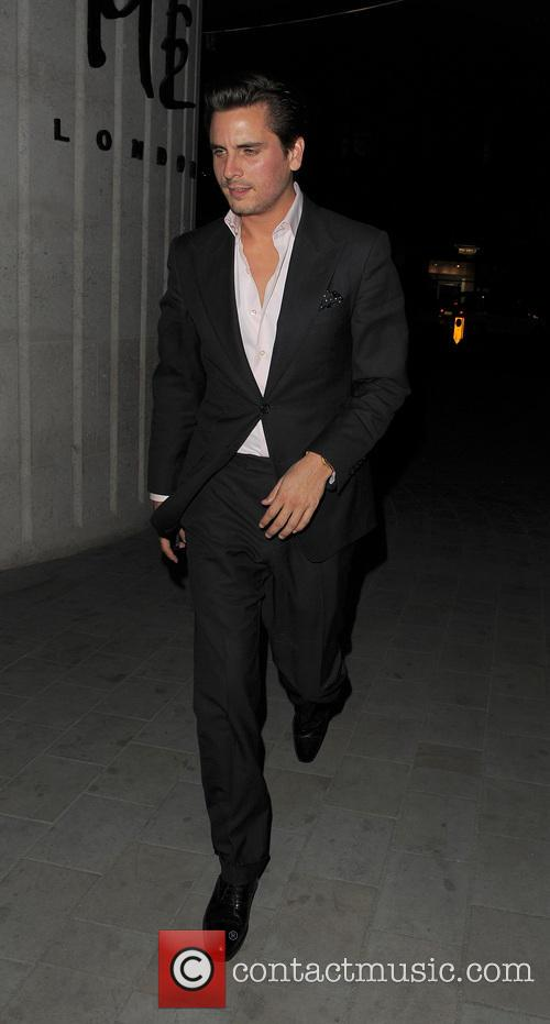 Scott Disick enjoys a night out with friends in London