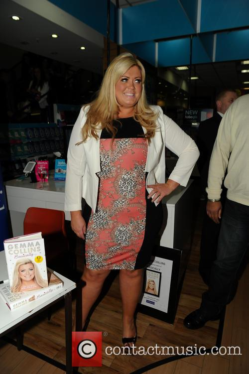 Gemma Collins signs copies of her new book...