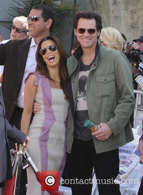 Eva Longoria and Jim Carey 5