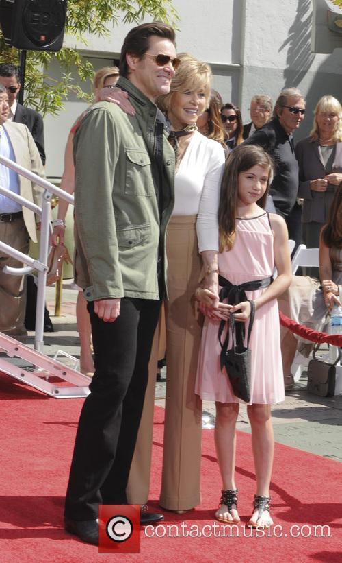 Jim Carey, Jane Fonda and Viva Vadim 2