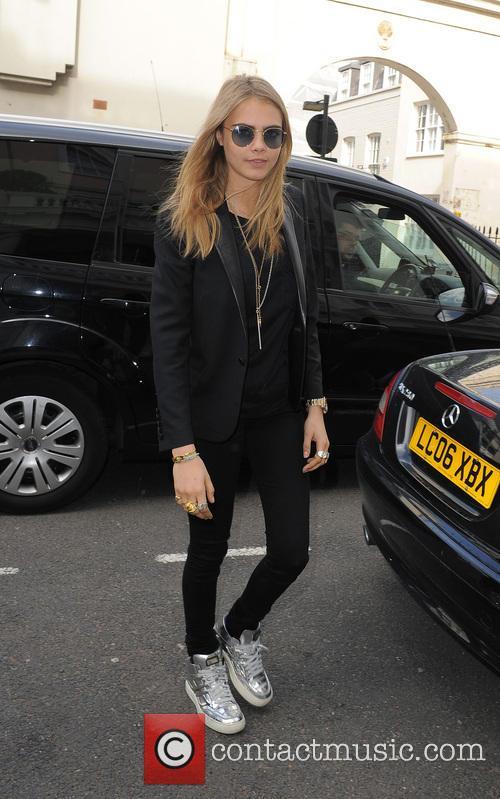 Cara Delevingne leaving the Vogue Festival party 2013