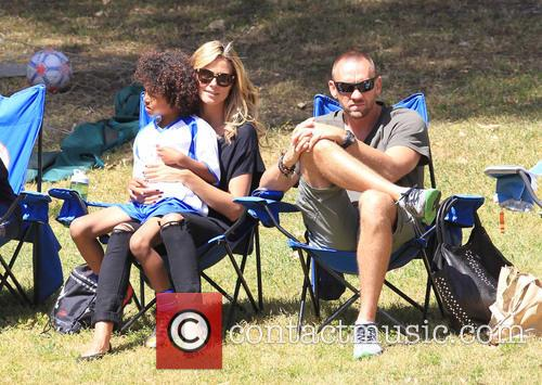 Heidi Klum watching her daughter play soccer