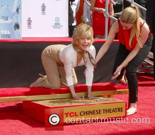jane fonda handprint and footprint ceremony honouring 3633857