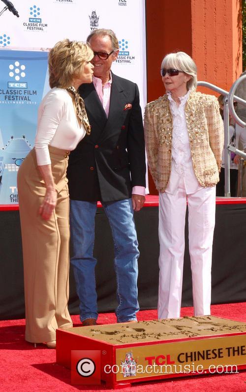 Jane Fonda, Peter Fonda. Shirlee Fonda, Troy Garity, Chinese Theater