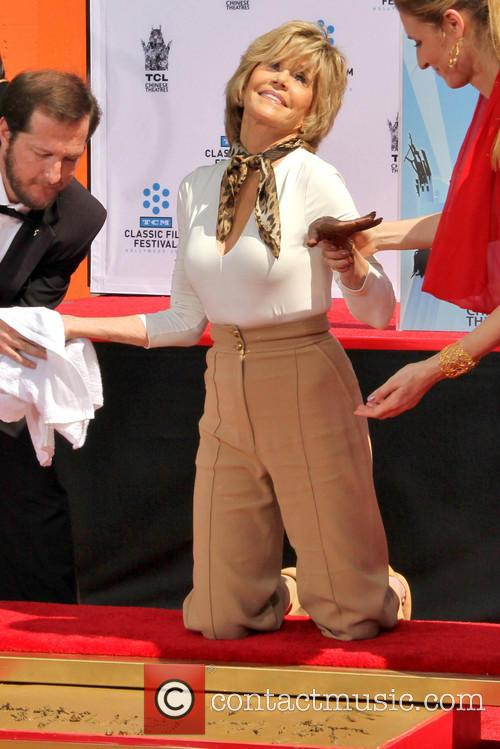 Handprint and footprint ceremony honouring actress Jane Fonda
