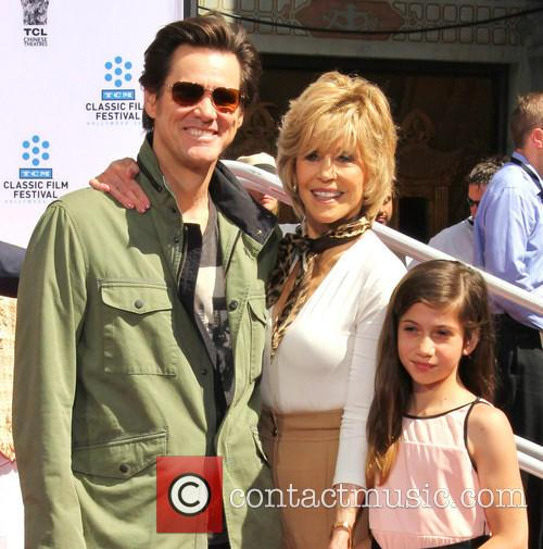 Jim Carrey, Jane Fonda and Viva Vadim 2