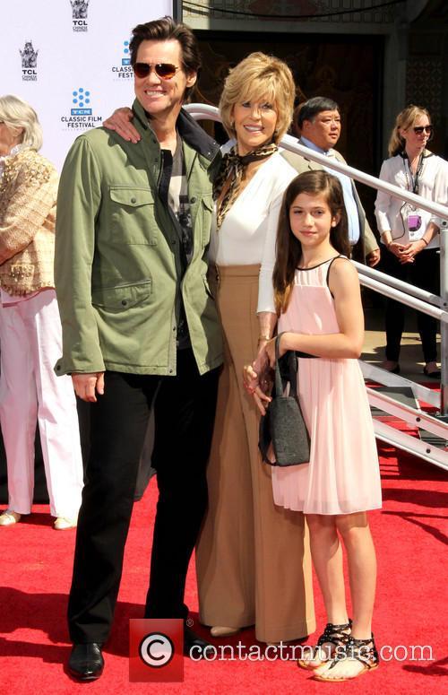 Jim Carrey, Jane Fonda and Viva Vadim 1
