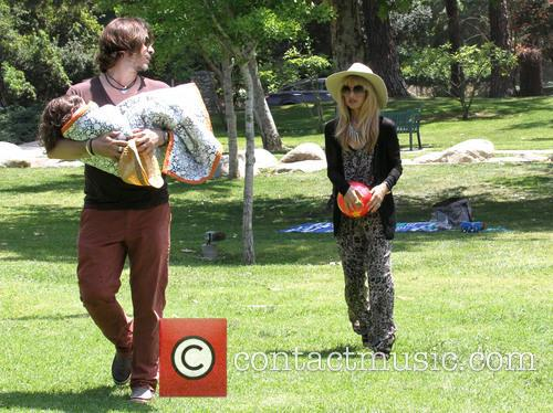 Rachel Zoe with her family at the park