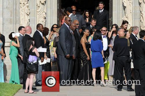 patrick ewing guests attend the wedding ceremony 3631486