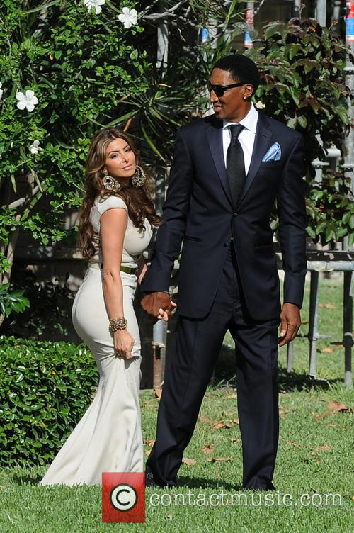 Michael Jordan, Scottie Pippen and Larsa Pippen 5